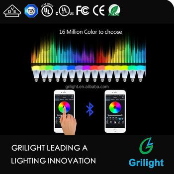Smartphone Controlled Lights bluetooth smart led light bulb smartphone controlled dimmable