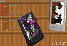 50 pieces 7″ Ebook Reader TTS 8GB 480*800 Pixels +2400Mah Battery 720P Mp4 player digital photo frame