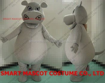 Life Size Walking Soft Plush Hippo Gloria Costume For Adult Unisex