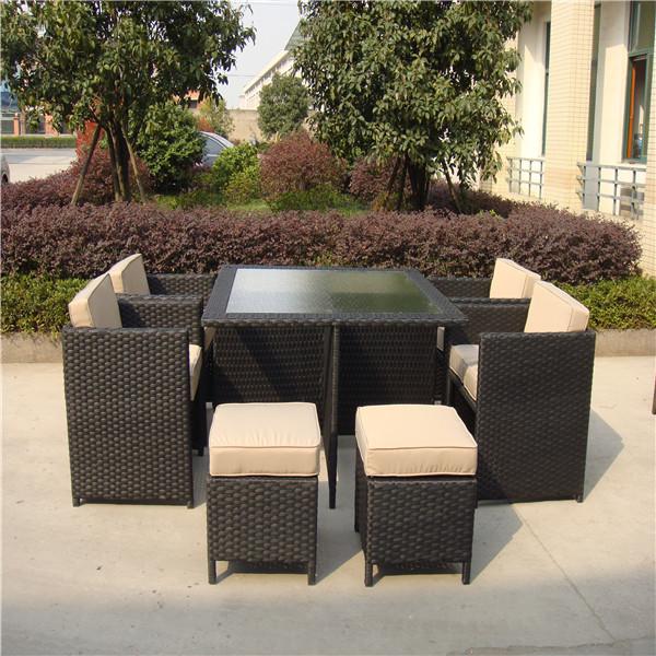 bar al aire libre ratán conjunto con estilo de muebles mesa de ...