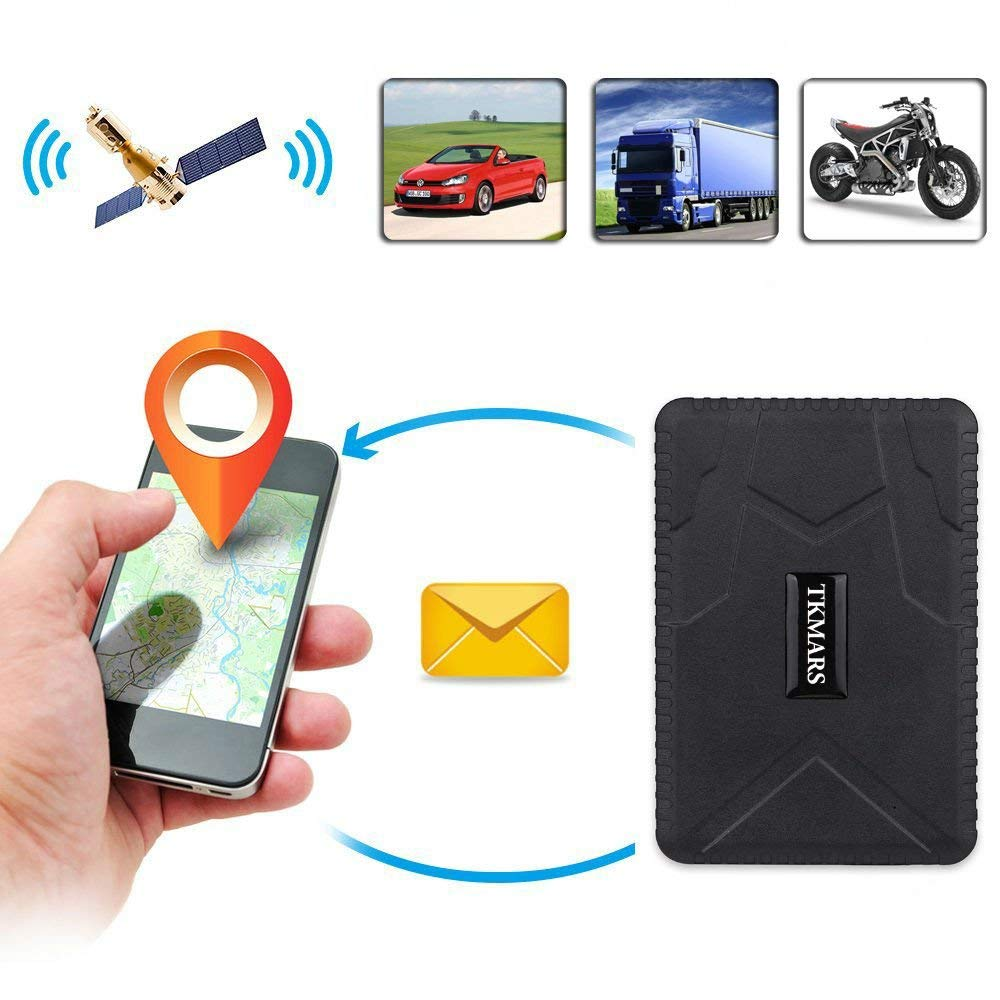 Hangang Car Tracker Vehicle Tracker GPS Tracker Car Locator Vehicle for Tracker Waterproof GPS Locator, Real Time Tracking Device, Car Bus Truck Vehicle GPS No Installation Support Andriod and IOS