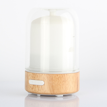 100ml Aroma Essential Oil Diffuser,New Wood and Glass Ultrasonic Humidifier for Office Home Bedroom