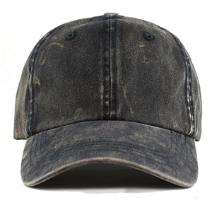 Custom Vintage Plain Baseball Cap Blank Dad Hat Washed Denim Cap