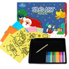 Christmas art and craft pack sand art kit for kids including 4 sand art pictures and 12 bottles of colored sand