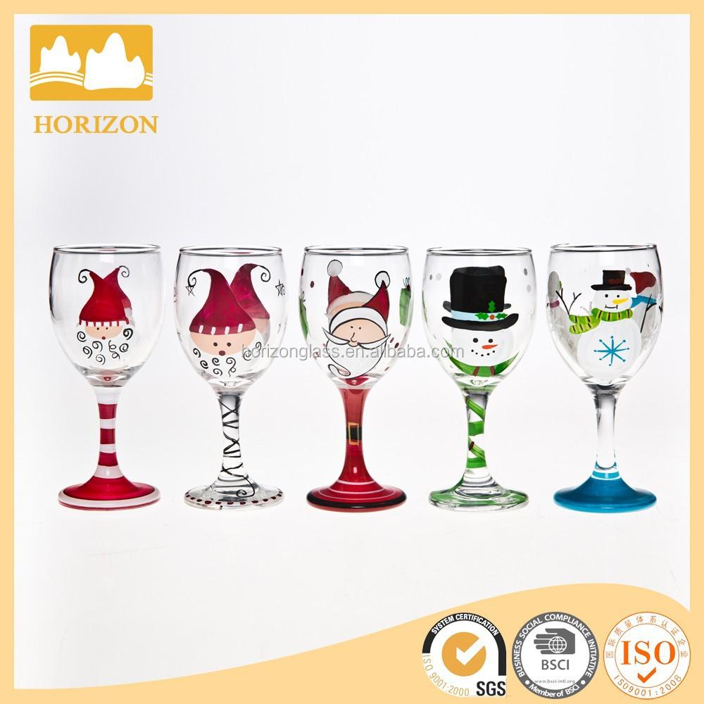 1000 bilder zu weihnachten auf pinterest for Christmas painted wine glasses pinterest