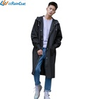 Windbreaker Black long EVA Fashion Durable Light-Weight raincoat for Men