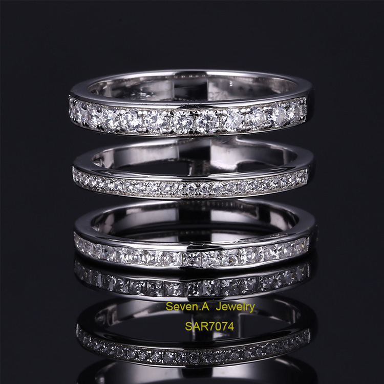SAR7074 2017 New Design Three Band Ring 925 Sterling Silver Ring Wedding Engagement Ring