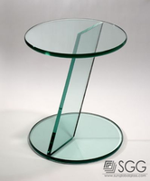 8mm Home Furniture Tempered Glass For Desk factory
