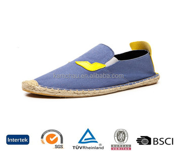 china fashionable low price jute sole canvas upper cute embroidery blue women s  loafers 98fae8af00