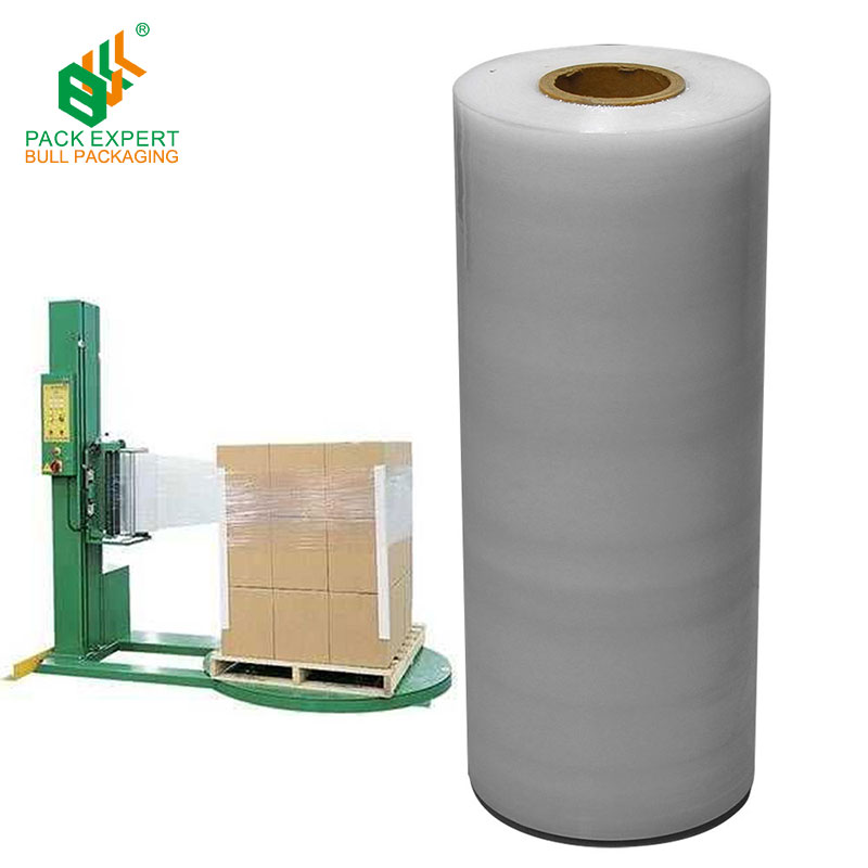 LLDPE stretch avvolto, pallet wrap film estensibile, jumbo roll film estensibile