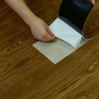 Laminate PVC Wood Design Discontinued Peel and Stick Plastic Vinyl Flooring
