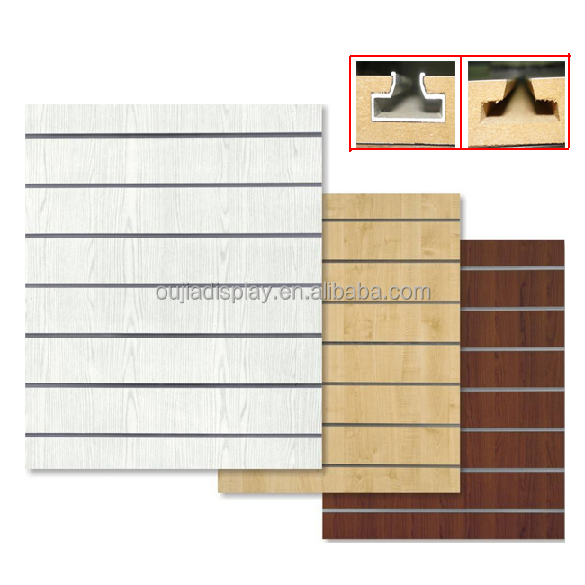 15mm 18mm Aluminium Slatwall Panel Gratis Verf Melamine Board Panel