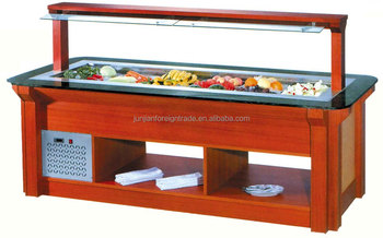 Guangzhou Manufacturer Commercial Luxury Salad Bar Equipment For Cold Food Display