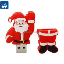 Gift Cartoon Santa Claus 4GB 8GB 16GB 32GB Christmas USB Flash Drive