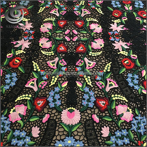 High quality popular design beautiful flat water solubility chemical embroidery fabric