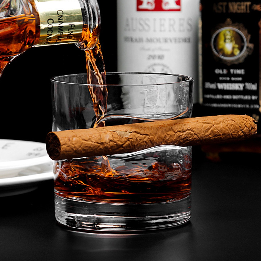 Alibaba.com / Wholesale Drinking Cigar Cups Fancy Design Whisky Glass Round Cigar Glasses