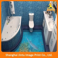 New Removable Decoration Bathroom Floor Tile Stickers