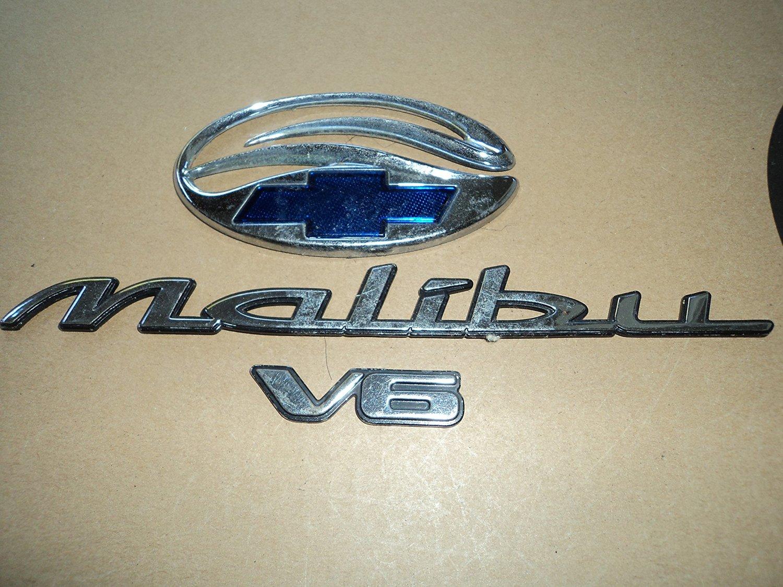97 02 Chevrolet Malibu V6 Rear Trunk Used Emblem Logo Nameplate Ornament Decal Sticker Set