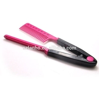 2016 magic Hair Straightener Hairdressing Salon Straightening Folding V Comb