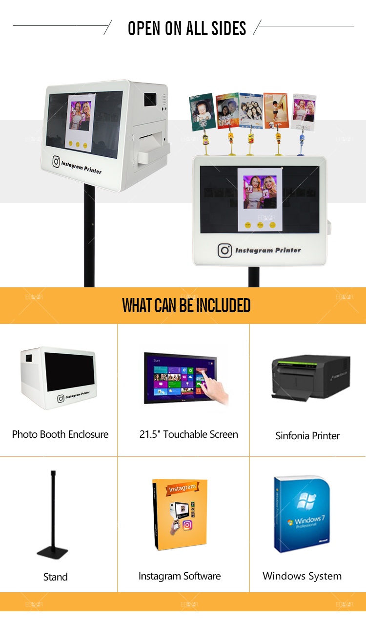 Photo Print Machine business metal frame sharing interactive hiti s420 digital photo booth machine