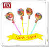 Colorful Swirl Hard Glow Stick Llollipop Candy fruit lolly
