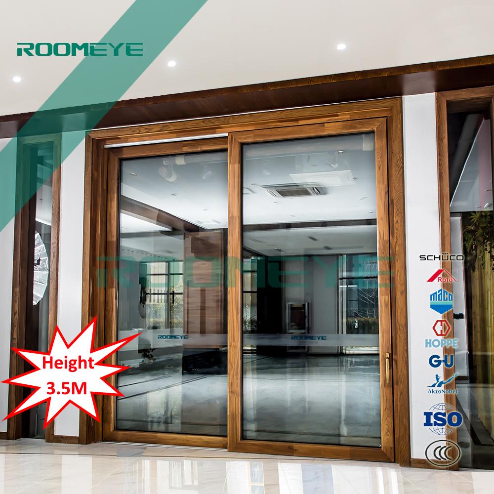Aluminium teak hout belangrijkste deur ontwerpen schuifdeur-deuren ...