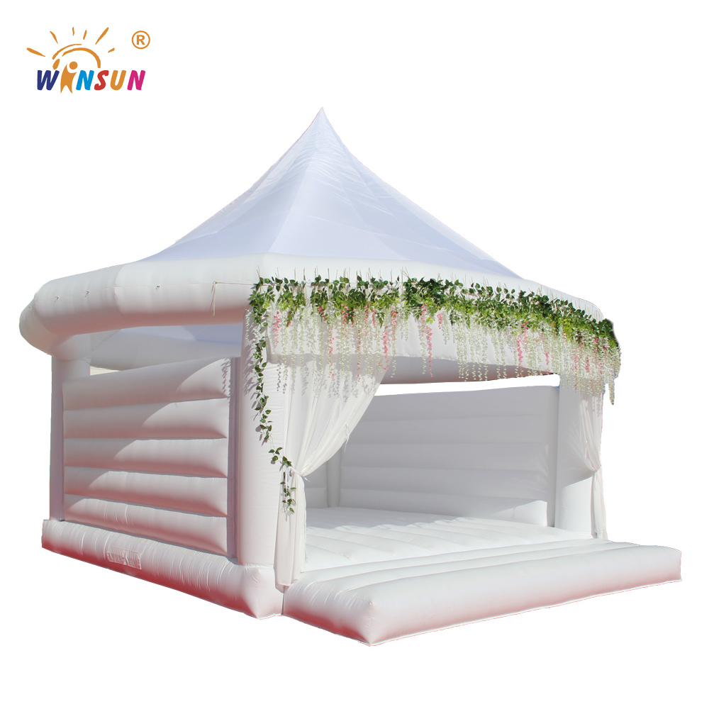 White wedding inflatable bouncy castle/moon bouncer house/bridal wedding bouncer for wedding decorate