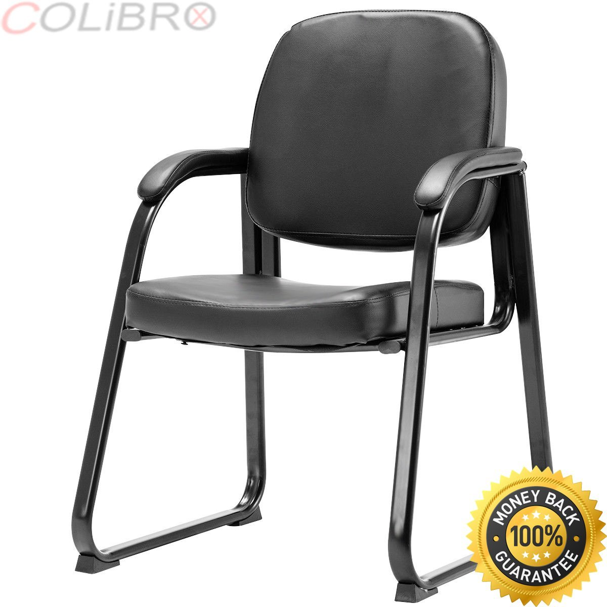 COLIBROX--Set of 2 PU Conference Chair Reception Guest Office Lecture Exam ArmChair New.guest chairs for office.best modern office guest chairs amazon.waiting room chairs walmart.amazon office chairs.