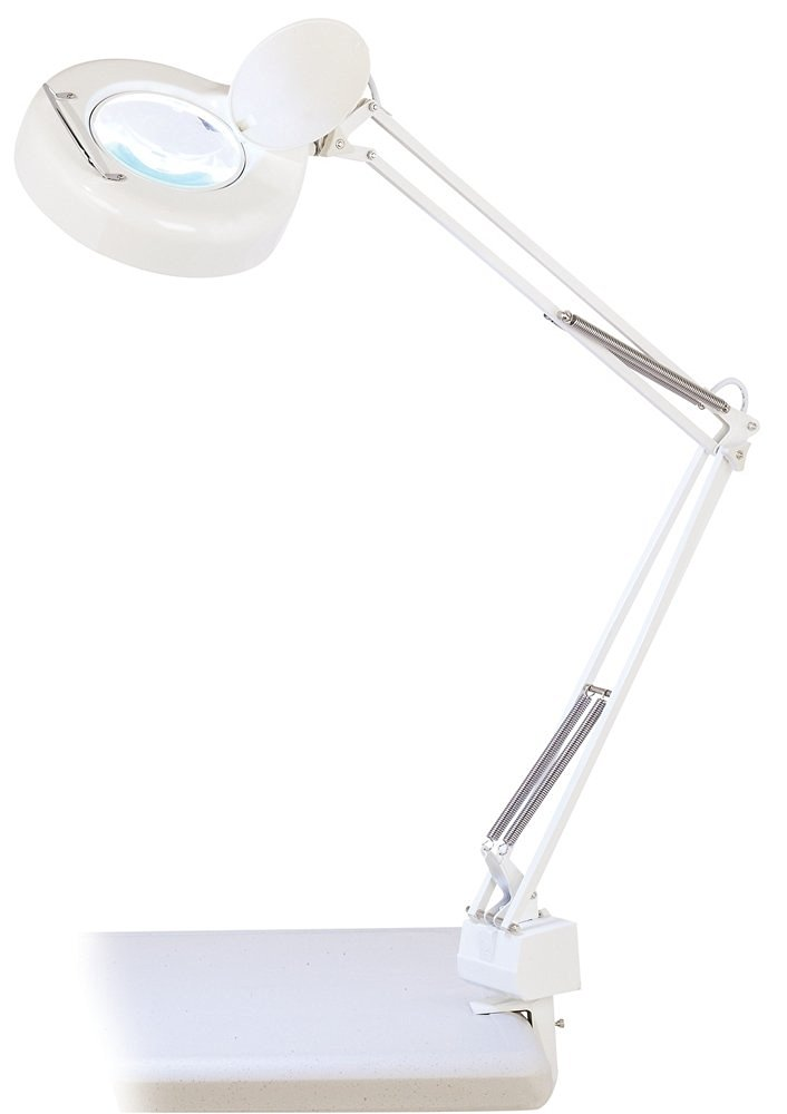 BLACK 5 Diopter Velleman VTLAMP11BU Desk Lamp With Magnifying Glass 12W