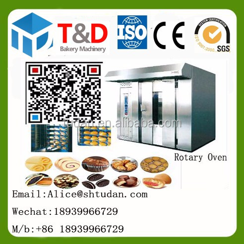 China factory-Eco friendly company bakery equipment cheap price 16 tray electric rotary oven price 32 tray gas rotary oven