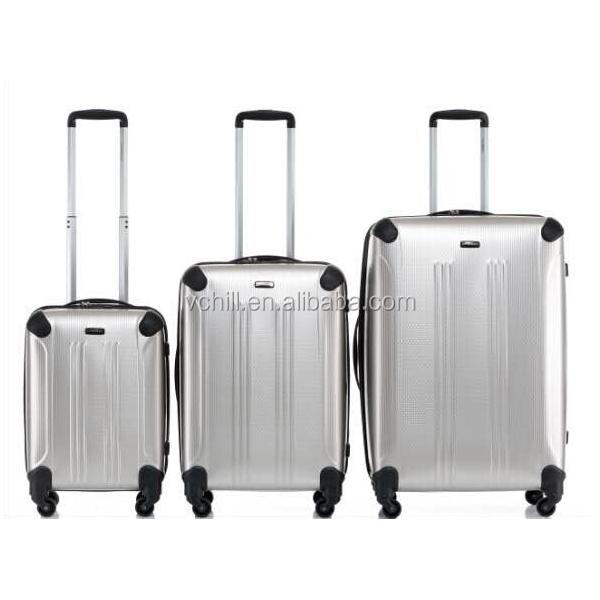 3 piece elegant trolley PET luggage set