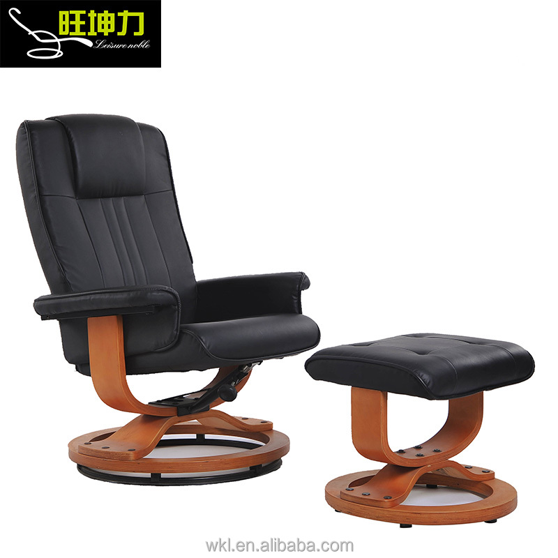 Bentwood Adjustable Modern Leather Swivel Car Recliner Chair