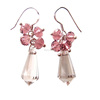 Sundysh Fashion Spike Crystal Beaded Drop Statement Earrings