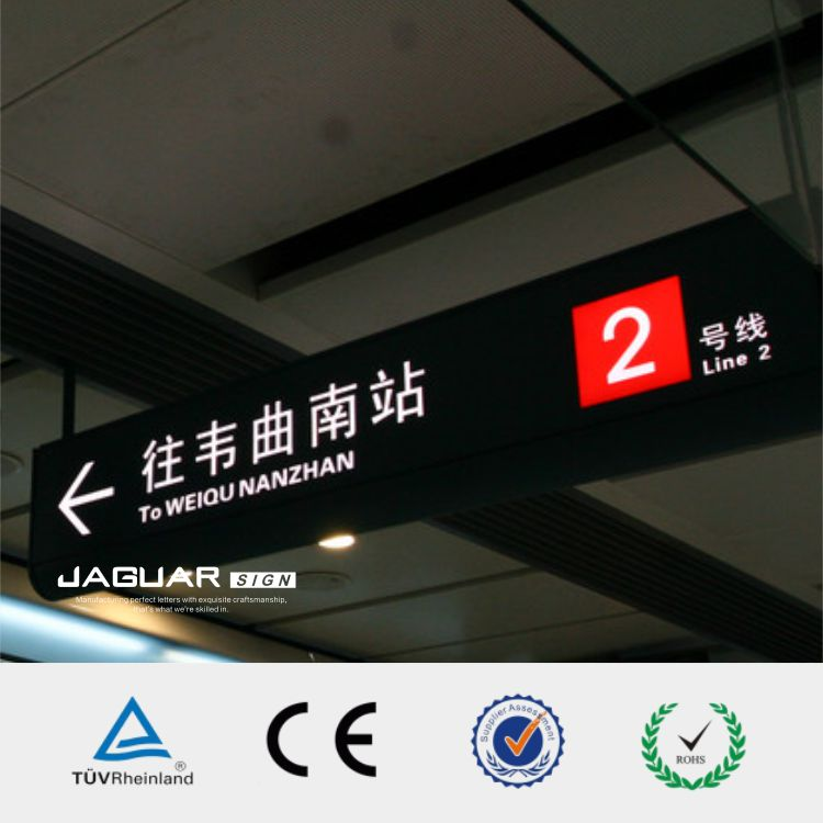 Professional produce frontlit led subway / train station lighted letter signs