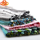 Cheap Rag Rugs Colored Cotton Shaggy Woven Kitchen Chindi Rag Rugs