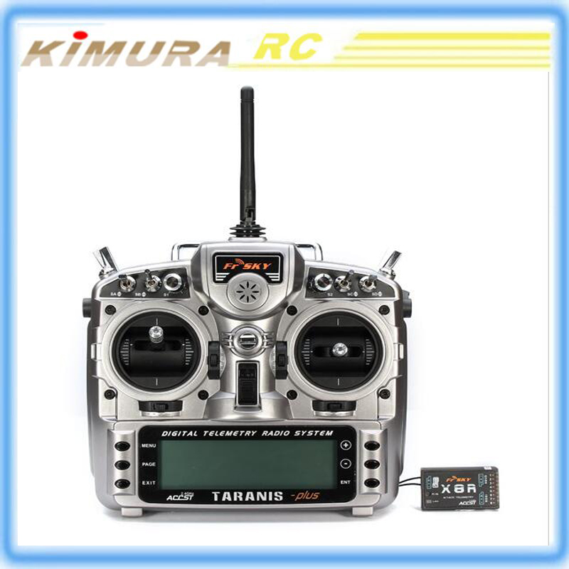 FrSky ACCST Taranis X9D PLUS 16CH 2.4GHz Transmitter with X8R receiver