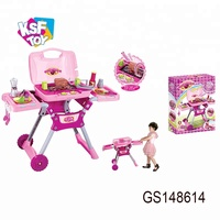 learning cooking game role play kids bbq set toy with light and music