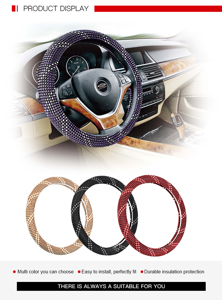 Excellent Stylish Glitter Steering Wheel Cover