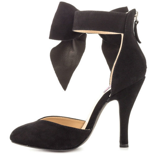 e1f8975a36c1 Get Quotations · Women Shoes 2015 Summer Black Bowtie Thin Heel Pointed Toe  Special Occasion Party Shoes At Heel