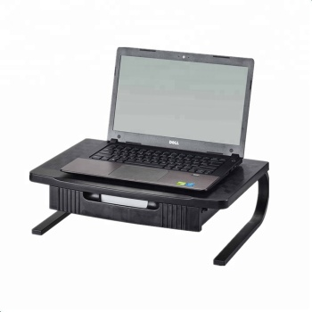 Ergonomic Design Useful Plastic&Steel Laptop/Monitor Stand Riser with Drawer