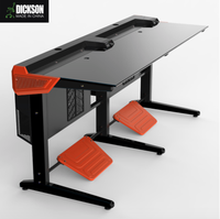 Dickson colorful racing office computer desk and chair