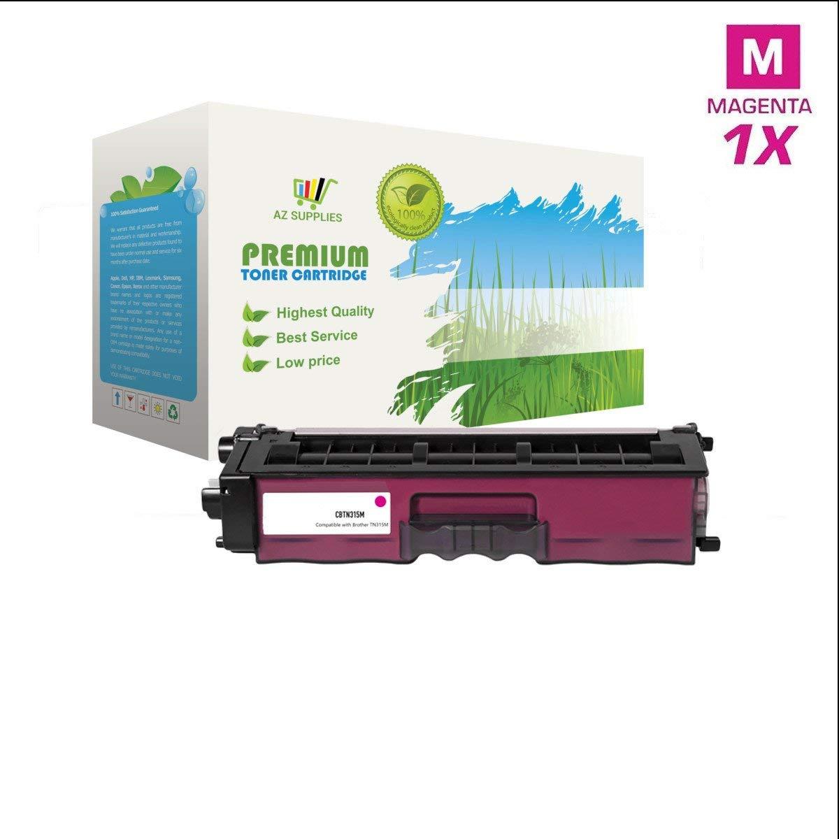 AZ Supplies © Premium OEM Quality TN315 Magenta Toner Cartridge Professionally Remanufactured for DCP-9055, DCP-9055CDN, HL-4150CDN, HL-4570CDW, HL-4570CDWT, MFC-9460CDN, MFC-9560CDW, MFC-9970CDW Magenta: 3500 page yield.
