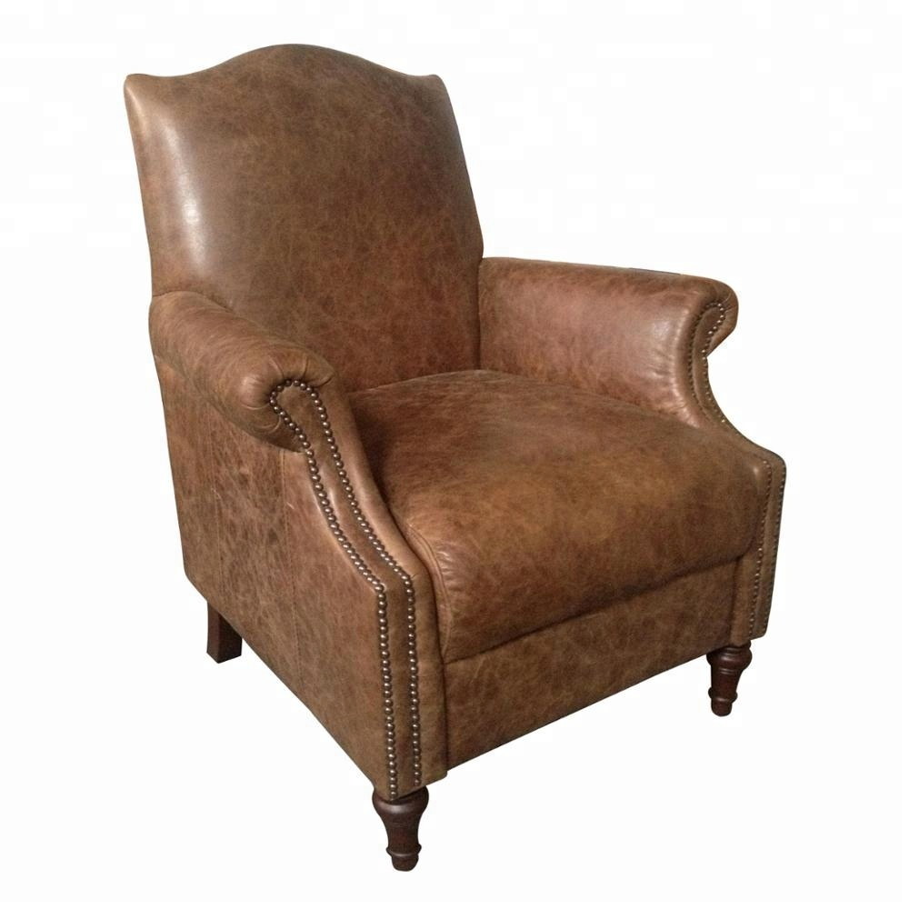 Vintage Leather Single Couch Chair For Cigar Room - Buy ...