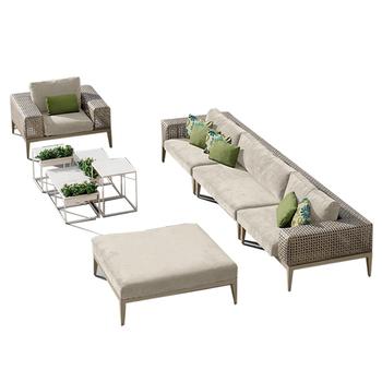 LIGO High Quality Garden Rattan Furniture Wicker Outdoor Sofa