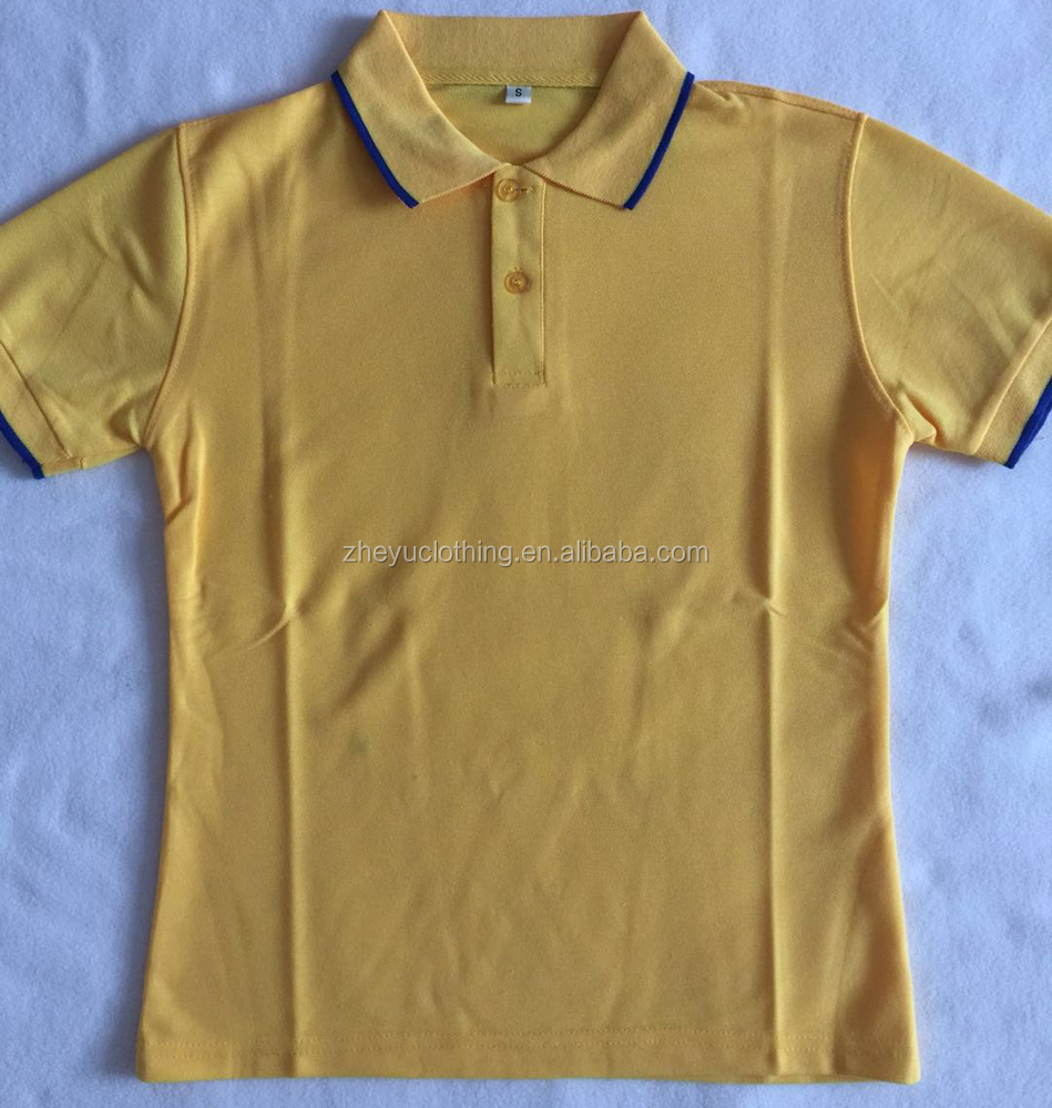 2019 hot sell 65polyester 35cotton printed TC polo shirt from china supplier