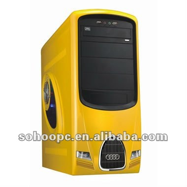 MID TOWER COMPUTER CASE-YELLOW COLOR-6906-BY