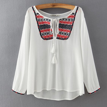 187140cde7f62a Ms71429l Ladies Kurta Neck Design Fancy Tops Women Embroidery Blouse ...