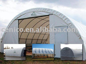 Fabric Building with side opening, commercial warehouse storage shelter, garages