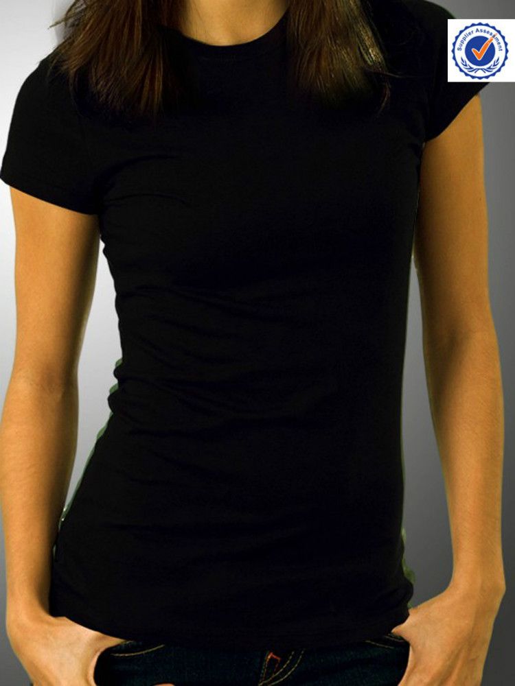 Plain Black T-shirts Women, Plain Black T-shirts Women Suppliers ...