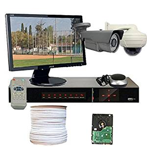 GW Security VD2CHH1 4 CH HD-SDI DVR 2 x HD-SDI 1/3-Inch 2.1 Megapixel CMOS Camera, 1080P, 2.8 to 12 mm Manual Zoom Lens